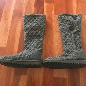 Lattice Cardy UGG Pure(TM) Knit boot.